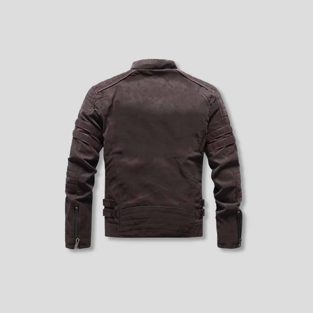 REX FLEECE LEATHER JACKET