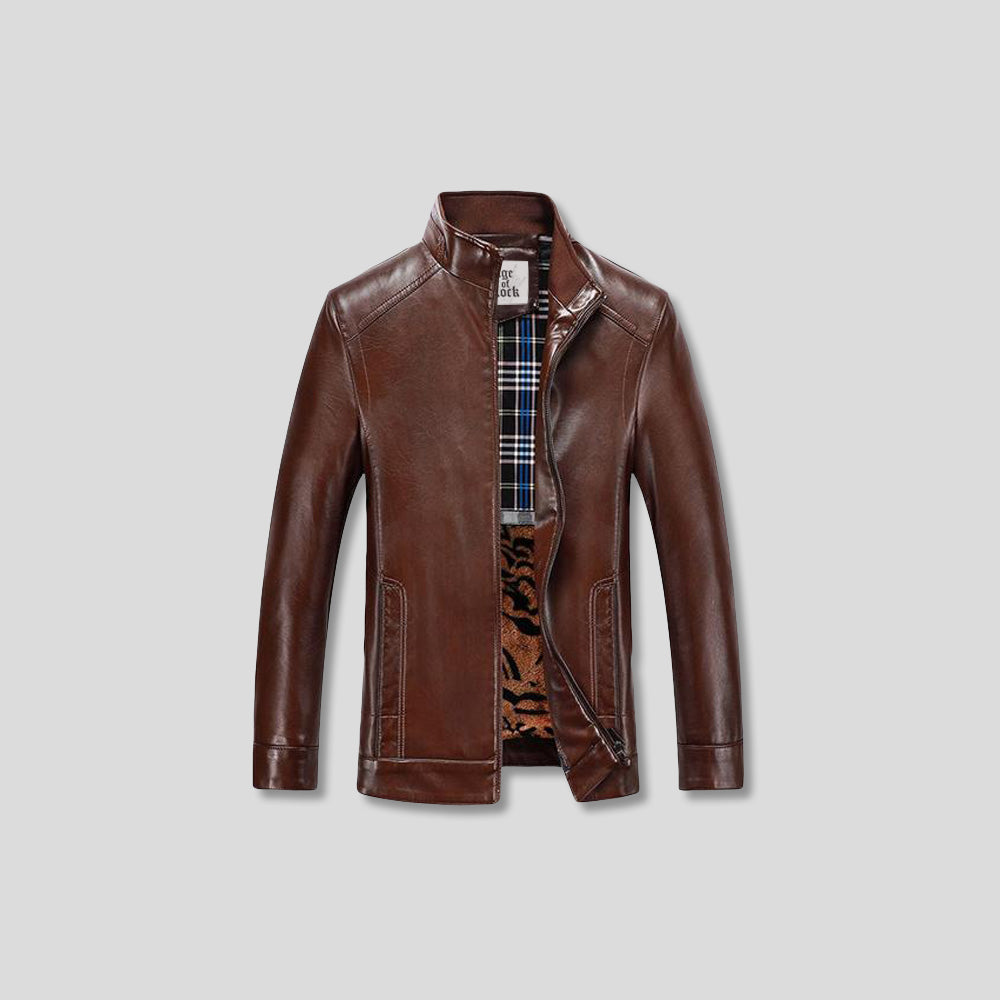CROWE GENUINE LEATHER JACKET