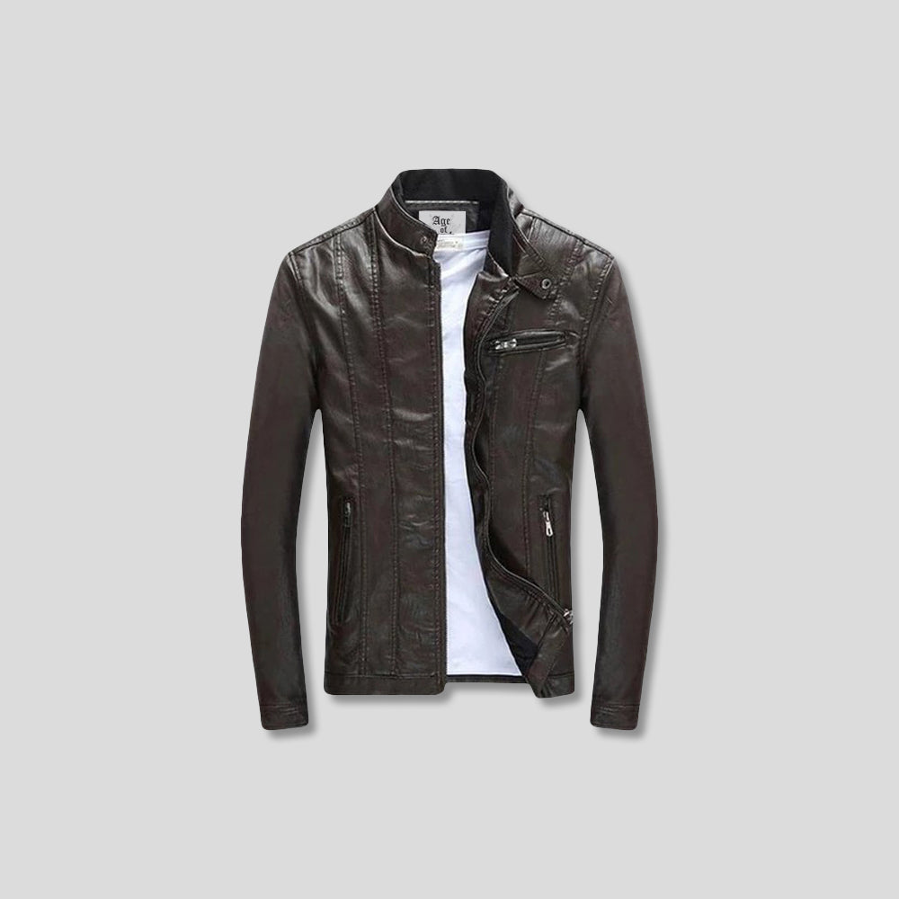 BADGER LEATHER JACKET