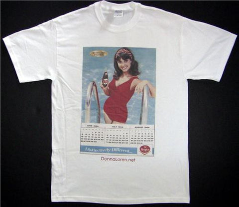 Dr Pepper Calendar Unisex Cotton Tee in White-Size Medium Only
