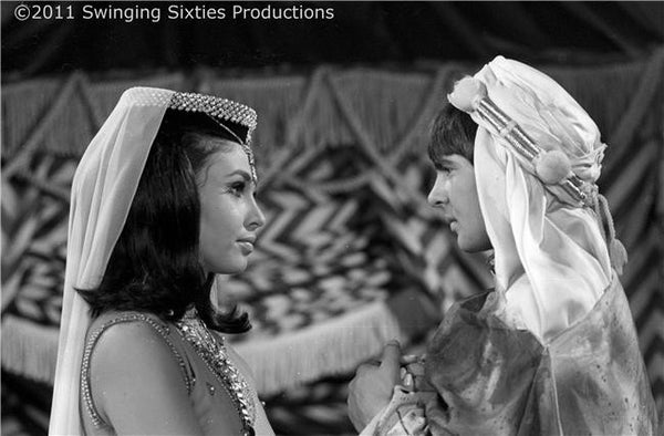 "Princess Collette on ""The Monkees"" with Davy Jones"