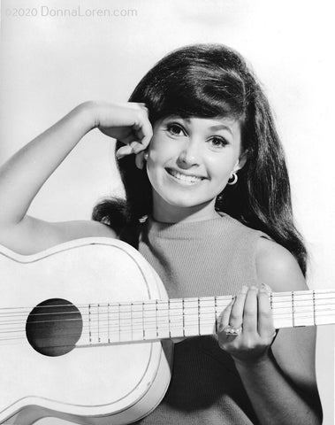 """Donna Holding Guitar"" Autographed Photo (1966)"
