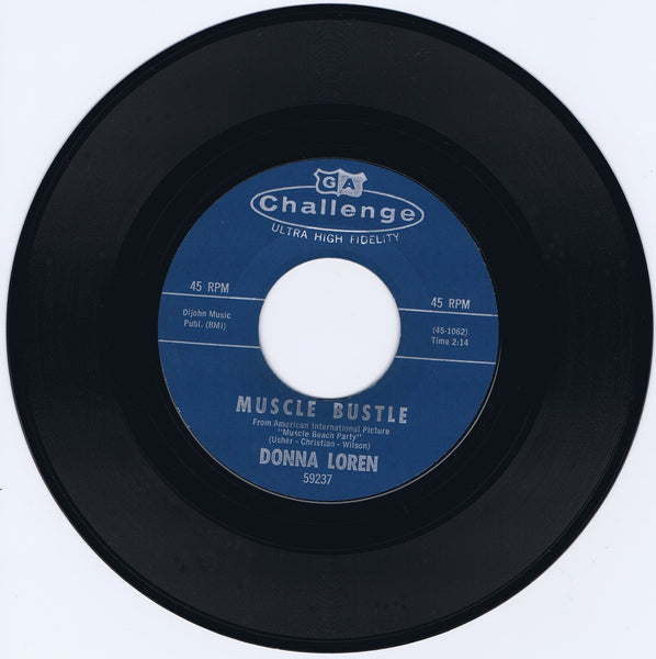 """Muscle Bustle"" b/w ""How Can I Face The World"" Vintage 45rpm NM"