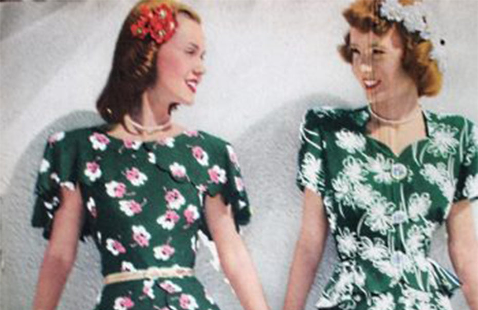 1940s Fashion-11 Vintage Style Floral Dresses
