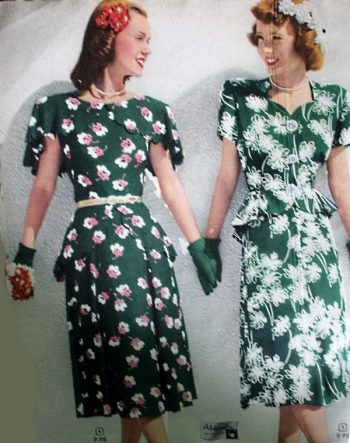 1940s Fashion Floral Dresses | Gardenwed