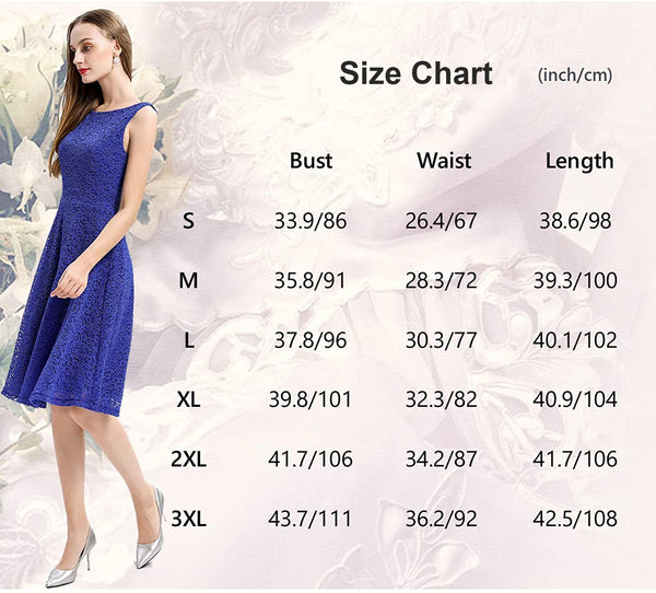 Size Chart Lace Dress Bridesmaid Dress Party Dress | Gardenwed