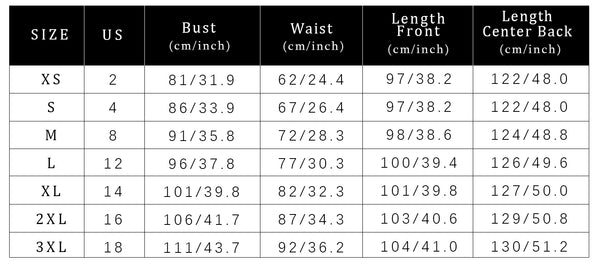 Size Chart Party Dress Cocktail Dress Cheap High Low Dresses | Gardenwed
