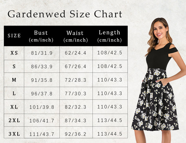 Size Chart Party Dress Short Prom Dress Homecoming Dresses Floral Dress | Gardenwed
