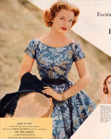 Joan Evan Floral Dresses Vintage Style 1940s Fashion for Women | Gardenwed