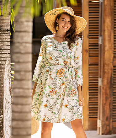 Causal Dress Summer Spring Floral Dress Everyday Dress Casual Outfits | Gardenwed