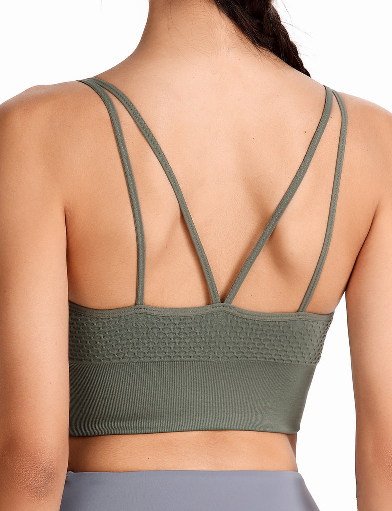 Longline Sports Bras for Women Workout Yoga Tank Top | Gardenwed