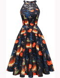 Aline Halter Knee-length Sleeveless Halloween Cute Party Dress BB079 | Gardenwed
