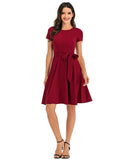 Vintage Dresses Daily Scoop Casual Flared Party Dress with Belt