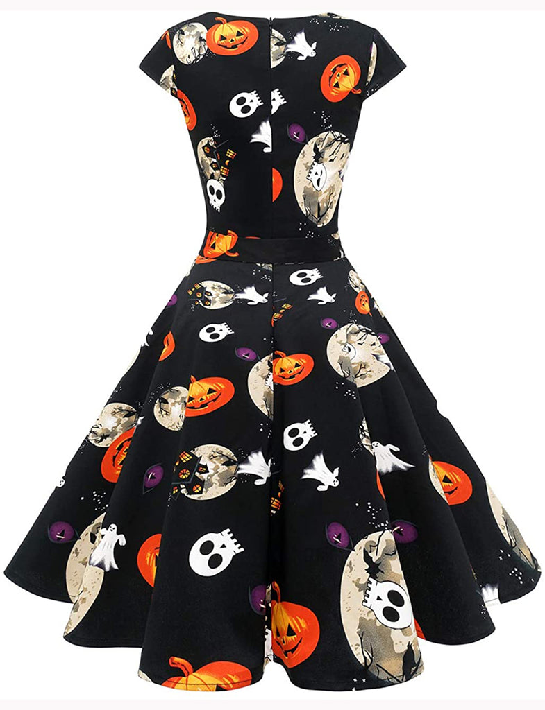 Halloween Women's 1950s Vintage Style Cocktail Party Dress DT10030 | Gardenwed