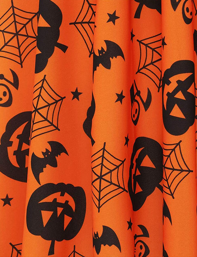 Vintage Style Halloween Theme Print Party Cocktail Dress DT10057 | Gardenwed