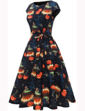 Halloween Theme Print Vintage Style A-line Cosplay Dress DT10063 | Gardenwed