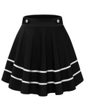 Basic Solid Flared Stretchy Plus Size Versatile Mini Skirts