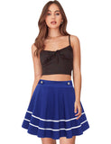 Women's Basic Solid Flared Stretchy Plus Size Mini Skirts GD190 | Gardenwed