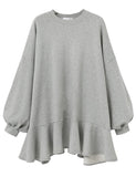 Cheap Solid Color Flouncing Long Pullover Casual Dresses GDCG1038 | Gardenwed