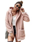 Womens Solid Open Front Hooded Cardigan Coats Outwear