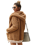 Women's Fashion Faux Fur Shaggy Winter Fleece Coat Outwear GDQC041 | Gardenwed
