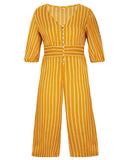 Women's Short Pants Half Sleeve Stripe Plus Size Jumpsuit | Gardenwed