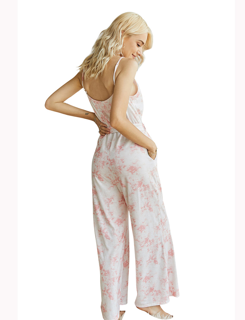 Women's Adjustable Spaghetti Straps Jumpsuit with Pockets | Gardenwed