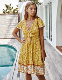 Women's Summer Cotton Loose Bohemian Tunic Dresses GDCG1012 | Gardenwed