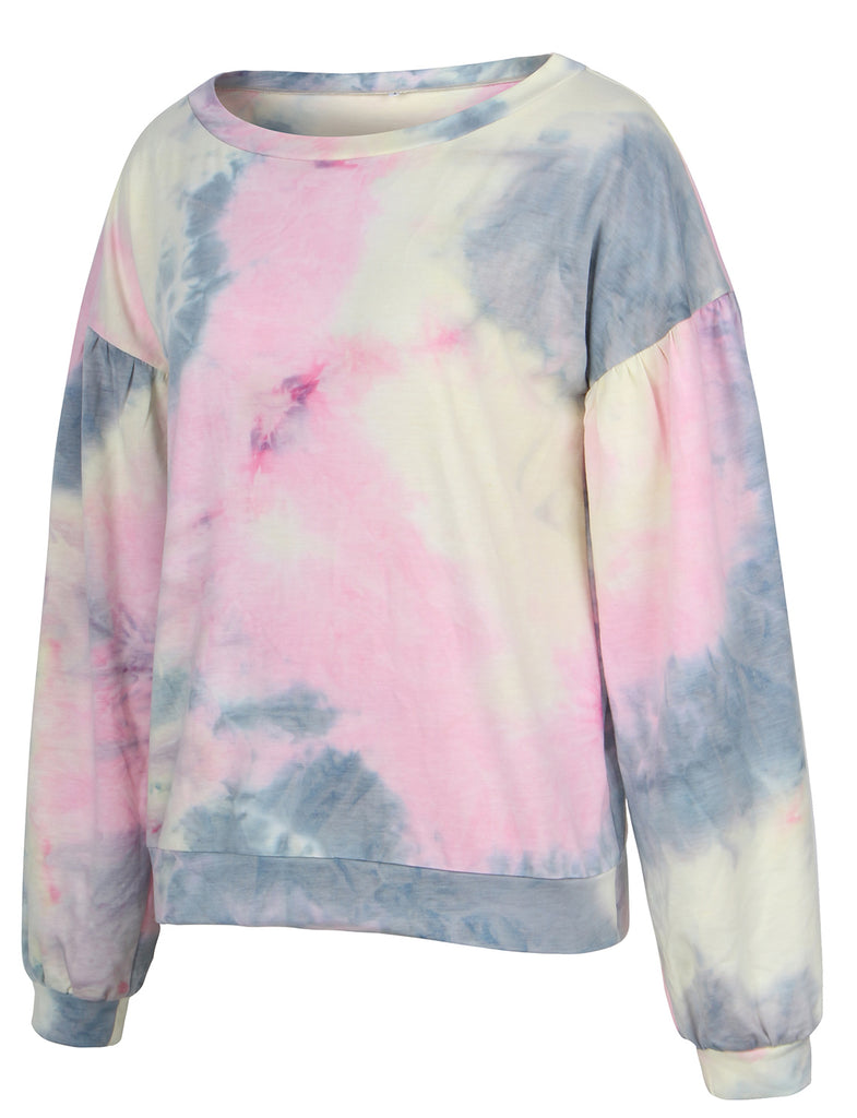 Early Fall Outfit Tie Dye Long Sleeve Pullover Sweatshirts GDCG1024 | Gardenwed