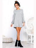 A-line Loose Pullover Autumn Style Short Sweater Dresses GDCG1028 | Gardenwed