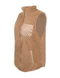 Women's Warm Sherpa Fleece Zip Up Reversible Vest Outwear GDCG1042 | Gardenwed