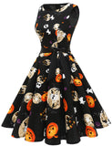 Halloween Party Skull Pumpkin Vintage Style Swing Dresses GDQC009 | Gardenwed