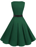 Vintage Style Women's 1950s Retro Dresses Scoop A-line Simple Swing Dress GDQC009 | Gardenwed