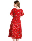 Short Summer Dresses Daily Causal Dresses For Woman Floral Chiffon Dresses GDQC027 | Gardenwed