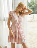 Women's Loungewear Sexy V-neck Casual Summer Short Dress