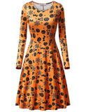 Long Sleeve Aline Knee-length Vintage Style Halloween Party Casual Dresses | Gardenwed