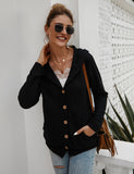 Women's Waffle Knit Sweater Cardigans Coat Outwear with Pockets | Gardenwed