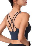 Strappy Sports Bra for Women Sexy Crisscross for Running Yoga