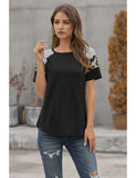Women's Tops Summer Tunics Leopard Stripe Loose Casual Blouse T-Shirt | Gardenwed