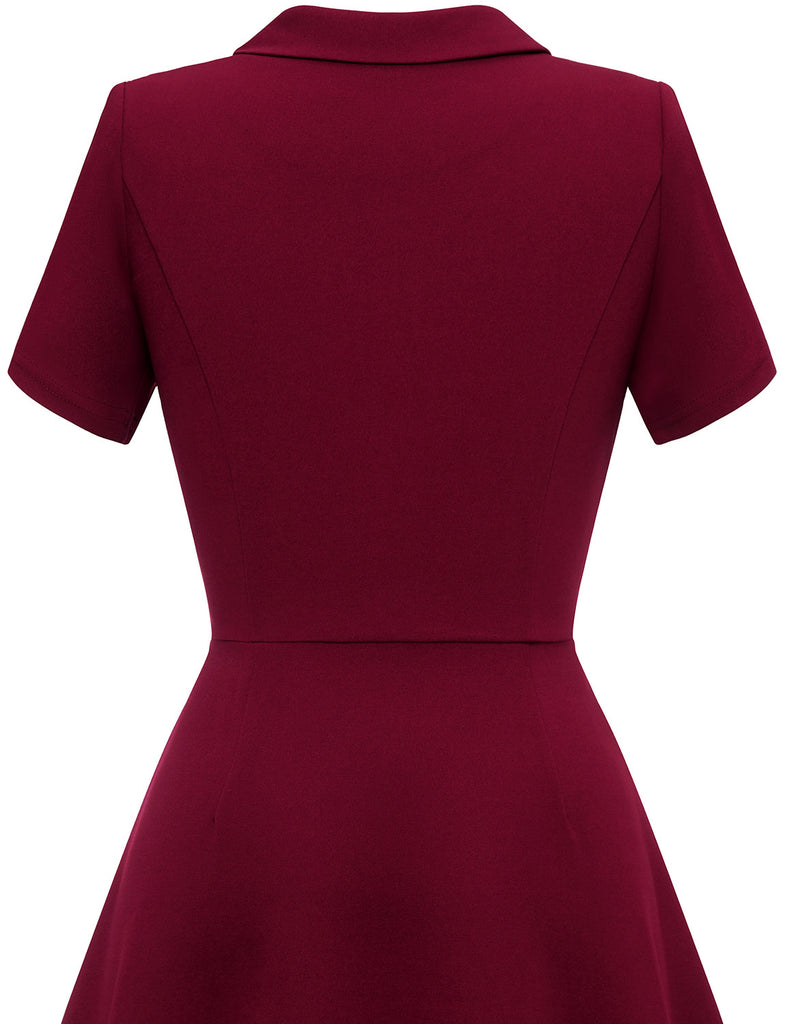 TLQC1005 Women's Retro Short Sleeve Wear to Work Dresses Business Cocktail Party Dress | Gardenwed