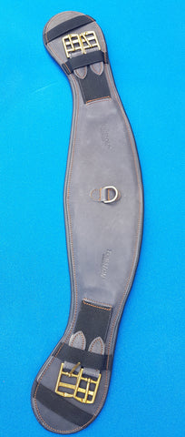 Torsion Nubuck Leather Curved Girth