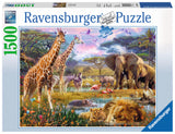 1500pc Jigsaw Puzzle Ravensburger Colourful Africa