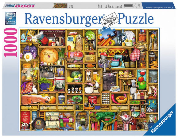 1000pc Jigsaw Puzzle Ravensburger Kitchen Cupboard
