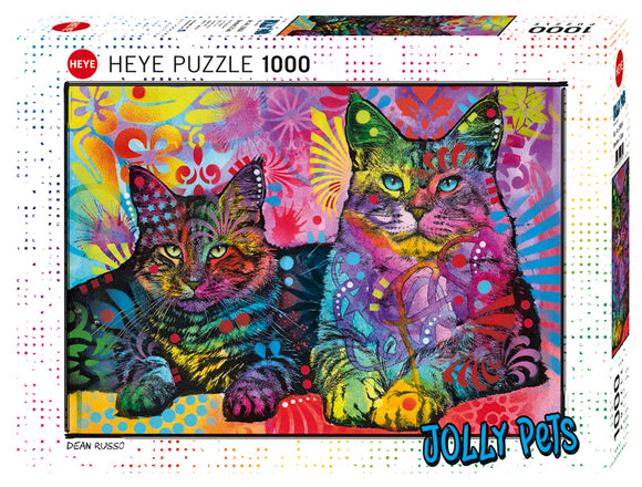 1000pc Jigsaw Puzzle Heye Jolly Pets Devoted 2 Cats