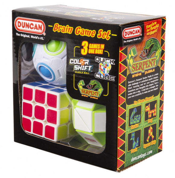 Duncan Quick Cube Colour Shift and Serpent 3 Games Boxed Set Brainteaser Game