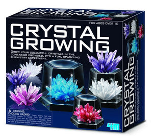 Crystal Growing Experimental Kit 7 Coloured Crystals with Display Cases by 4M Science Kit