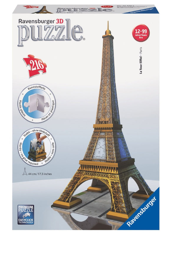 216pc 3D Jigsaw Puzzle Ravensburger Eiffel Tower