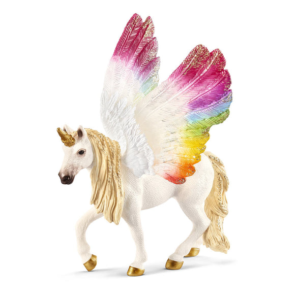 Winged Rainbow Unicorn Schleich Figurine
