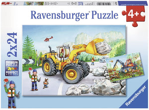 2x24pc Jigsaw Puzzle Ravensburger Diggers At Work