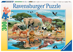 300pc Jigsaw Puzzle Ravensburger At The Watering Hole